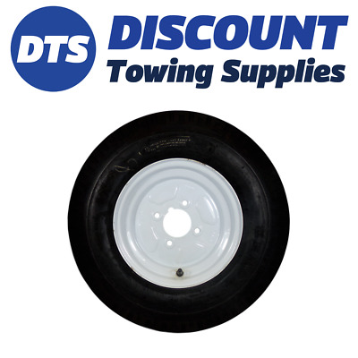 Trailer Wheel Rim And Tyre Complete 520/500 X 10 Inch 8 Ply 4 X 4 Inch PCD White • 56.99£