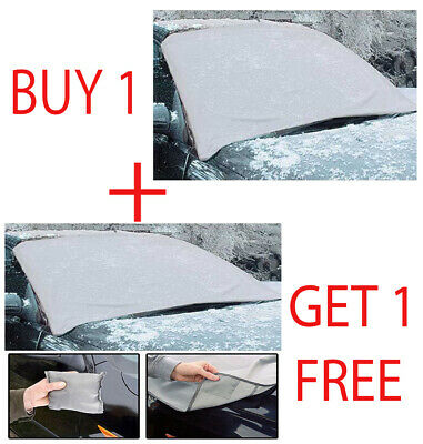 2 X Magnetic Car Windscreen Cover Ice Frost Shield Snow Protector Sun Shade Van • 7.90£