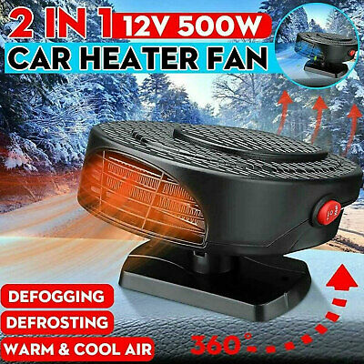 Universal Demister Car Air Heater 500W Fan Heater Defroster 12V Hot Warm • 16.15£