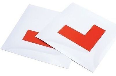2 X Fully Magnetic Exterior Car New Learner L Plates - Secure & Safe • 1.79£