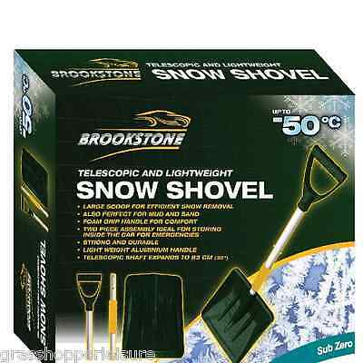 BROOKSTONE SNOW SHOVEL Lightweight Spade Travel Motorhome Car Caravan Home  • 11.95£