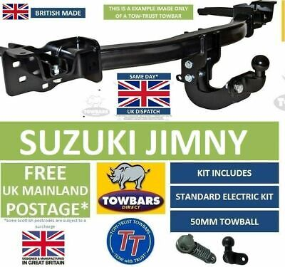 Suzuki Jimny 1998 To 2018 Flange Towbar Tow Bar Kit With Towball, Electrics S856 • 129£