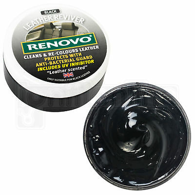 Renovo Black Leather Reviver Cleans & Re-Colours Protects Car Seats 200ml • 12.98£