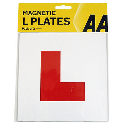 2 X Genuine AA Fully Magnetic Exterior Car Bike New Learner L Plates Secure Safe • 3.99£