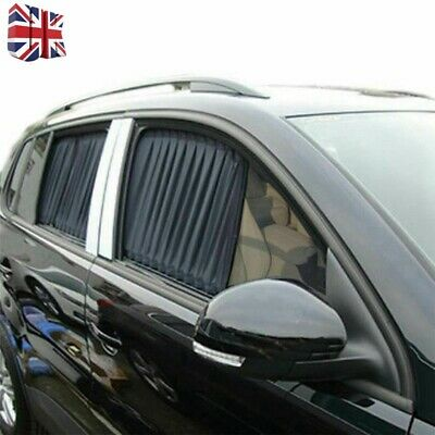 2x Car UV Protection Sun Shade Curtains Side Window Visor Mesh Cover Shield 50cm • 14.65£