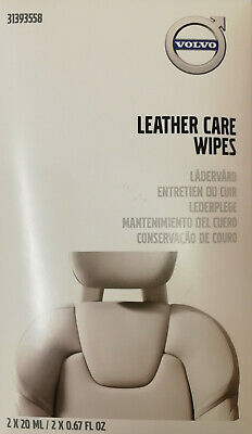 Genuine Volvo Leather Care Wipes - Part No. 31393558 • 9.99£