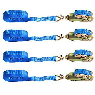 4x25mm 5 Meter Ratchet Straps Tie Down 800KG Claw Lorry Strap Lashing Polyester • 10.99£