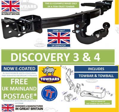 Towbar To Fit Land Rover Discovery 3 & Discovery 4 2004 To 2017 3500kg Rated TL1 • 199.50£