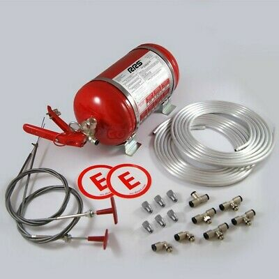 Fire Extinguishing System 4,25ltr. Mechanical FIA, Rally Circuit RRS ECO FIREX • 155£