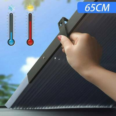 Car Retractable Windshield Sun Shade Folding Auto Block Cover Rear Window 65cm • 10.09£