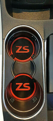 Set Of 2 Cup Holders, Black Race Red (will Fit A Ford Fiest Mk7.5 ZS ) • 5.99£