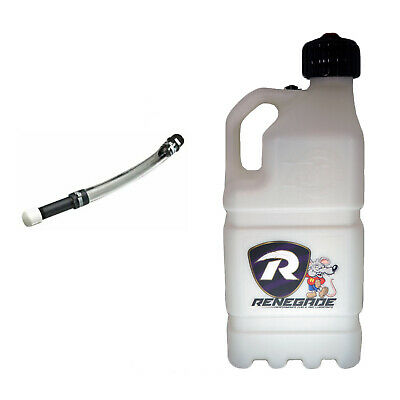 Renegade Race Fuel SPECIAL OFFER 20ltr WHITE Motorsport Container WITH Tube • 35£