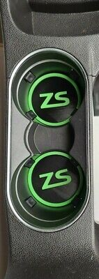 Set Of 2 Cup Holders Black And Bright Green Will Fit A Ford Fiesta Mk 7.5 ZS • 5.99£