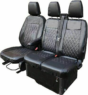 Ford Transit Custom 2013-fully Tailored Van Seat Covers Diamond Leather Quilted • 38.59£