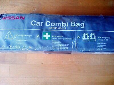Car Safety Pack First Aid Kit Yellow Jacket Warning Triangle, Nissan KE930-00032 • 7.75£