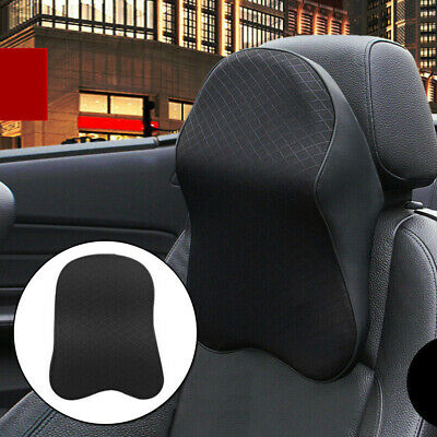 1X Car Headrest Pad Black Accessory Parts Replacement Seat High Quality • 14.79£