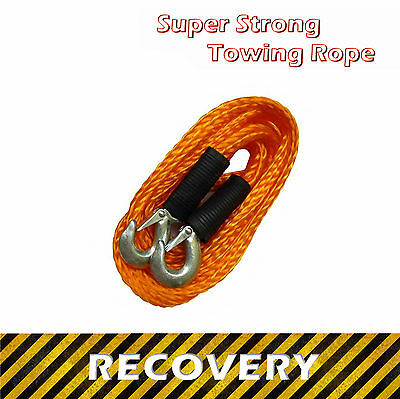Super Strong Towing Rope 3000 KG ☠ 4m / 400cm ☠ Heavy Duty Strap For Recovery • 10.98£