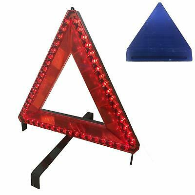 51 Pcs LED FLASHING BREAKDOWN WARNING TRIANGLE With 12v 6 Mtr CABLE Or BATTERY • 17.49£