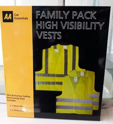 AA Family Pack High Visibility Vests New • 7.99£