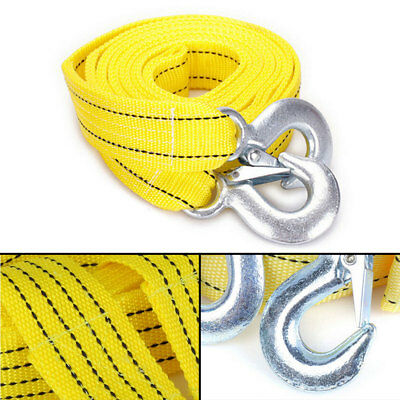 5 TONNE 4M Tow Towing Pull Rope Strap Rope Belt Heavy Duty Car Van Road Recovery • 8.39£