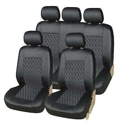 Ford Focus 2005-2019 Premier Full Set Leather Look Seat Cover Black Hbs • 24.25£