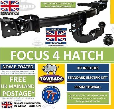 Towbar To Fit Ford Focus MK4 Hatchback 2018on Inc ST-Line Flange Tow-Trust TFD18 • 149£