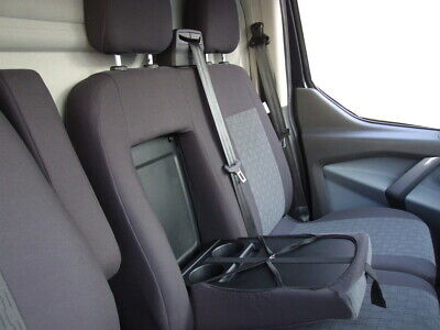 Fully Tailored Van Seat Covers For Ford Transit Custom 2012 - Onwards Grey • 53.99£