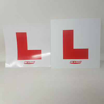 2 X UK Legal L Plates Self Adhesive Stick On Vinyl Weatherproof Learner Driver • 1.70£