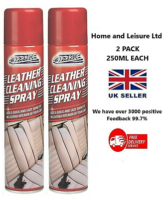 Car Pride Leather Cleaning Spray Protects Restores & Easy Shine To Car Interior • 5.25£
