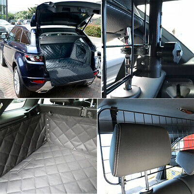Mesh Headrest Pet Dog Guard + Quilted Boot Liner FOR Land Rover Discovery 3 & 4 • 41.95£