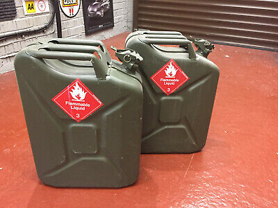 Jerry Cans X2 Unused Fuel Container Petrol Diesel Car Truck Land Rover Defender • 20£