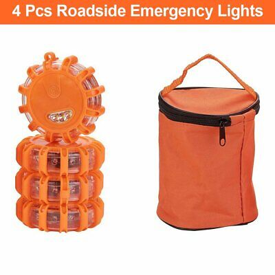 4PCS Road Flares Roadside Emergency LED Warning Flashing Light Safety Warming • 22.49£