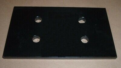 Land Rover Nato Tow Hitch Reinforcing Backing, Mounting Plate  Black • 18£