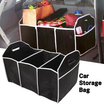 2-in-1 Car Boot Organiser Heavy Duty Collapsible Foldable Shopping Tidy Storage • 3.99£