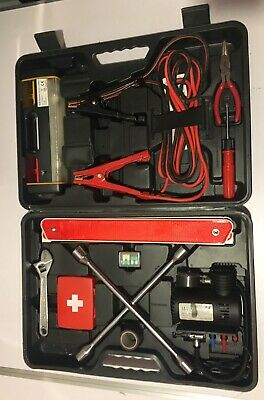 Roadside Emergency Kit Car Carry Case Booster Wrench Light First Aid • 14.99£