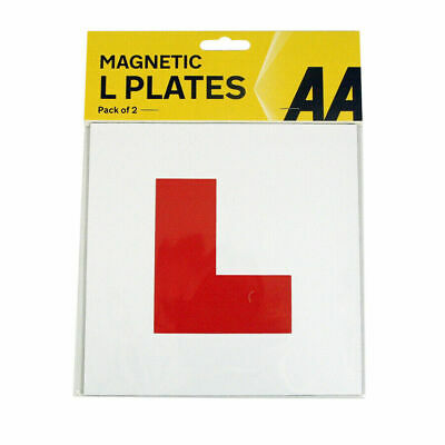 AA Fully Magnetic Exterior Car Bike New Learner L Plates Secure Safe Pair • 2.90£