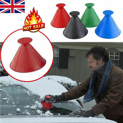 Magical Car Windshield Ice Snow Remover Scraper Tool Shaped Round Funnel Cone • 3.56£