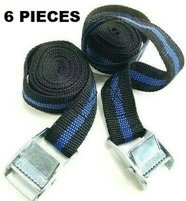 Pack Of 6 Cam Buckle Tie Down Straps Roof Rack Trailers Cargo 25mm X2500mm Long • 7.25£