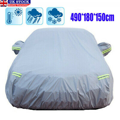 UK Full Car Cover Rain Sun UV Protection Scratch Proof Waterproof Large Size XL • 15.99£