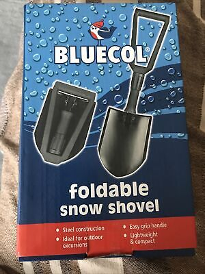 Bluecol Foldable Snow Shovel Lightweight Steel Compact With Storeage Bag  • 10.99£