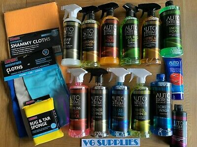 Auto Extreme Interior/Exterior Car/Van Valeting Cleaning Kit NEW 15PC Trigger • 29.99£