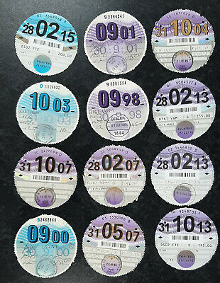 25 X UK VEHICLE TAX DISCS • 10£