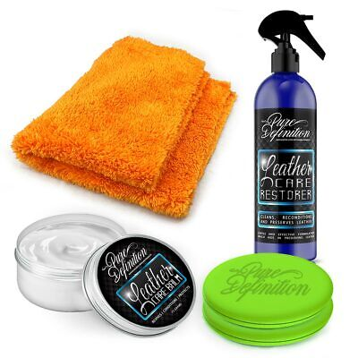 Leather Cleaner Protection Kit Preserve Car Interior Detailing Pure Definition • 12.28£
