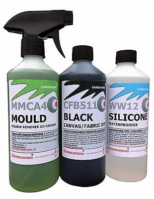 Convertible Roof Cleaner Kit, Fabric Soft Top Dye Mould Remover Waterproofer.  • 32.99£