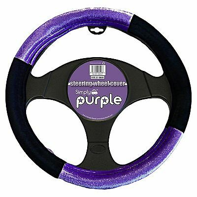 Universal Purple And Black Steering Wheel Cover Glove With Soft Padded Material • 7.99£