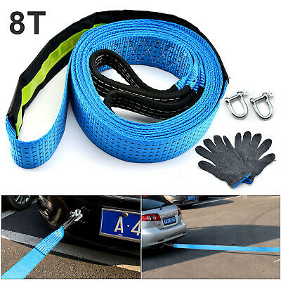 Perfect 8T Heavy Duty Tow Rope  Pull Strap Winch Tree Strop 4x4 Offroad Recovery • 9.99£