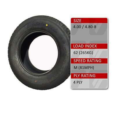 TRIDENT 4.80/4.00-8 Trailer Spare Tyre Assembly 62M 4 Ply Tyre Only • 19.49£