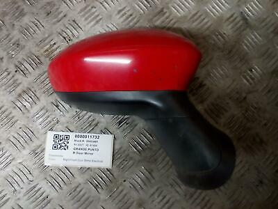 FIAT GRANDE PUNTO Right Front Door Mirror Red Electric  2006-09 • 22.50£