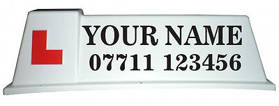 Driving School Roof Sign Graphics, Stickers For Car Roof Sign (N01) • 17.49£