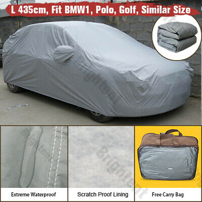 Outdoor Indoor Waterproof Universal Car Cover Heavy Duty Cotton Lined WCC2P • 18.99£